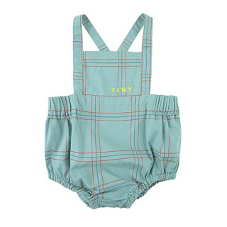 TINYCOTTONS / CHECK BRACES BLOOMER / sea green/red / Baby