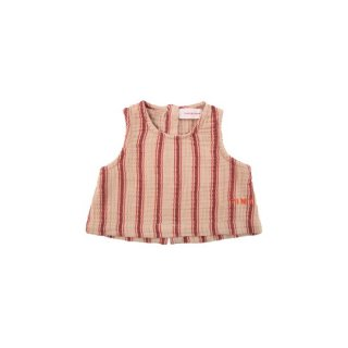 "TINYCOTTONS / ""RETRO STRIPES"" BABY TOP / light nude/dark brown / Baby"