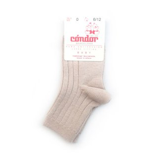 【再入荷】condor / Rib ShortSocks / 334 / Stone