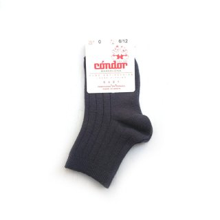 【再入荷】condor / Rib ShortSocks / 257 / coal