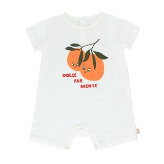 "TINYCOTTONS / ""ORANGES"" ONE-PIECE / off-white/brick / Baby"
