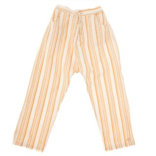 tocoto vintage / Striped pyjama style trousers with front pockets / MUSTARD