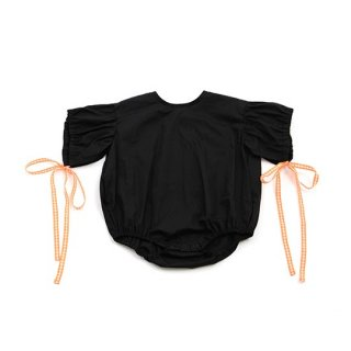 UNIONINI / ribbon rompers / black