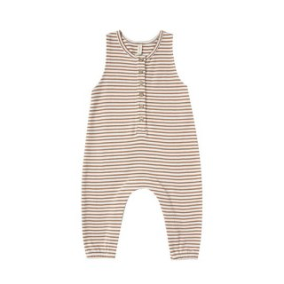 Quincy Mae / Sleeveless Jumpsuit / rust stripe