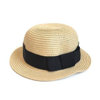 chocolatesoup / PAPER BRAID BOWLER HAT / BLACK