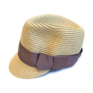chocolatesoup / PAPER BRAID JOCKEY HAT / G.BEIGE