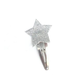 Numero74 / Mini Glitter Star Hair Clip / Silver