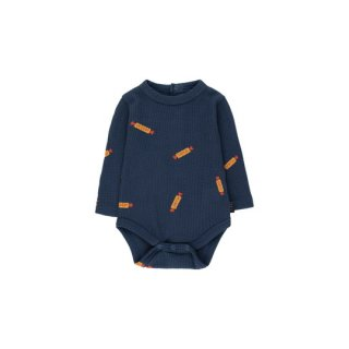 "TINYCOTTONS / ""PEANUTS"" BODY / light navy/deep yellow / Baby"