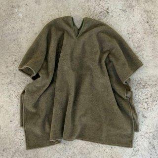 MOUN TEN. / meltonfleece poncho / khaki / size M