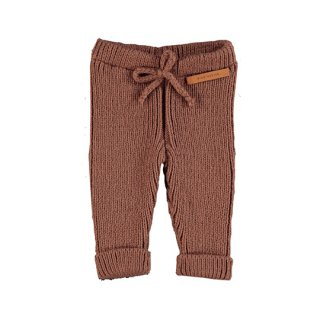 piupiuchick / Ribbed knit pants / pecan nut