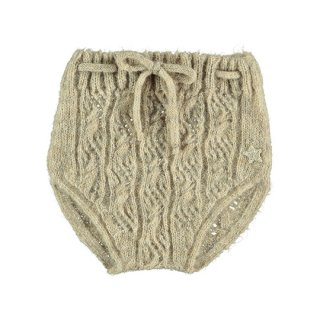 tocoto vintage / Open-work ribbed knit bloomer / BEIGE