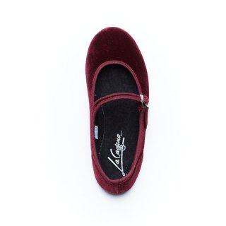 La Cadena / JAPONESA VELOUR One-Strap / BURGUNDY / adult