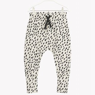 PAPU / GRAIN AOP BAGGY / black white dot