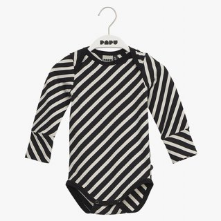 PAPU / DIAGONAL STRIPE BODY / black white