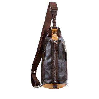豊岡鞄 帆布×皮革ワンショルダー(24-132)