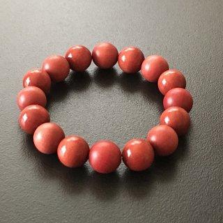 ピンクアイボリーの数珠ブレスレット(木珠,12mm珠)