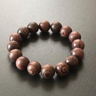 タガヤサンの数珠ブレスレット(木珠,12mm珠)
