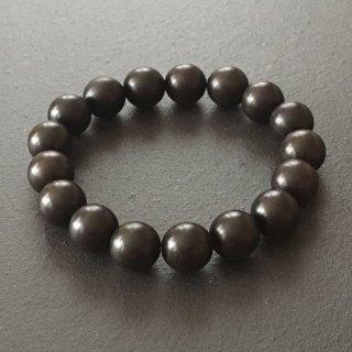 青黒檀の数珠ブレスレット(木珠,12mm珠)
