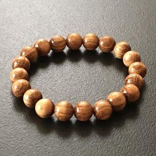 ゼブラウッドの数珠ブレスレット(木珠,8mm珠)