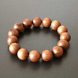 ブラジリアンローズの数珠ブレスレット(木珠,12mm珠)