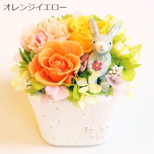 お花畑 ウサギ