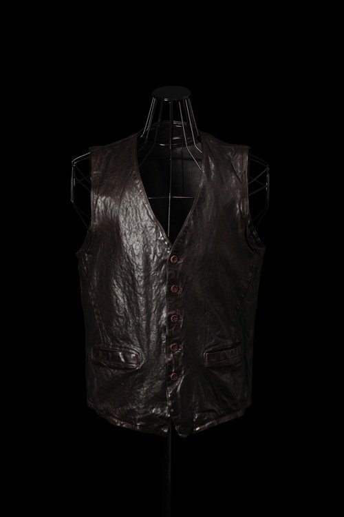 "ITALY SHOULDER ""GARMENT-DYED"" VEST"