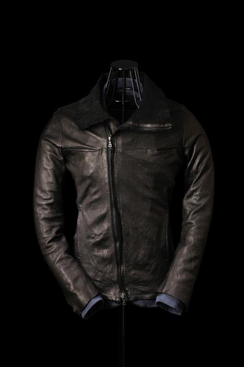 "ITARY HORSE ""GARMENT-DYED"" HIGH-NECK BLOUSON"