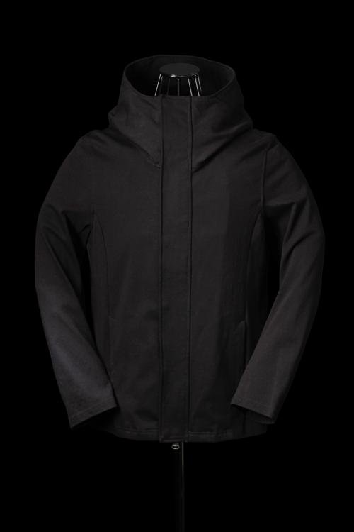 STRETCH-COTTON HOODIE