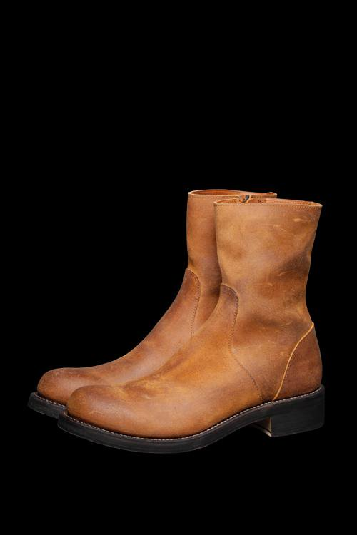 HORWEEN SUEDE HAND-PROCESSED SIDEZIP BOOTS