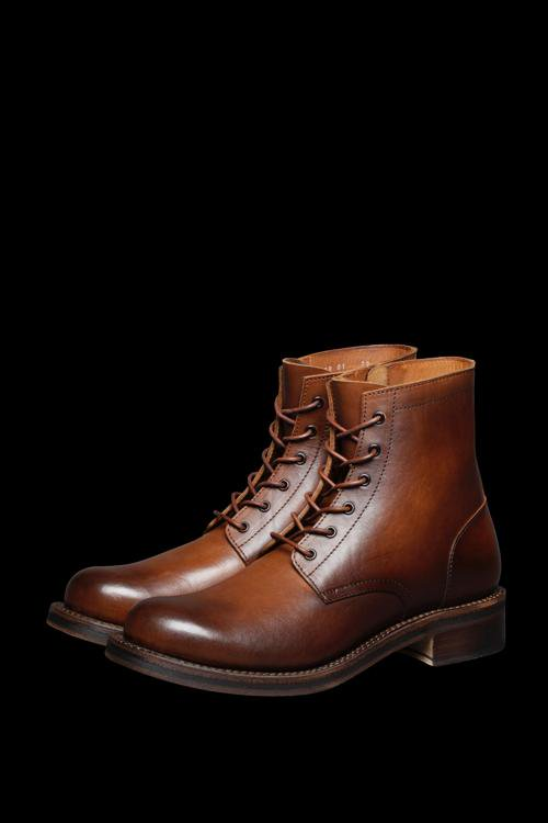 POLAND SHOULDER HAND-DYED LACEUP BOOTS