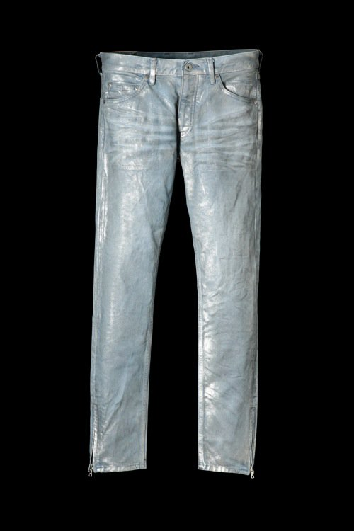 "13oz STRETCH DENIM ""SUPER-SKINNY"" SILVER FOIL/PRINT"