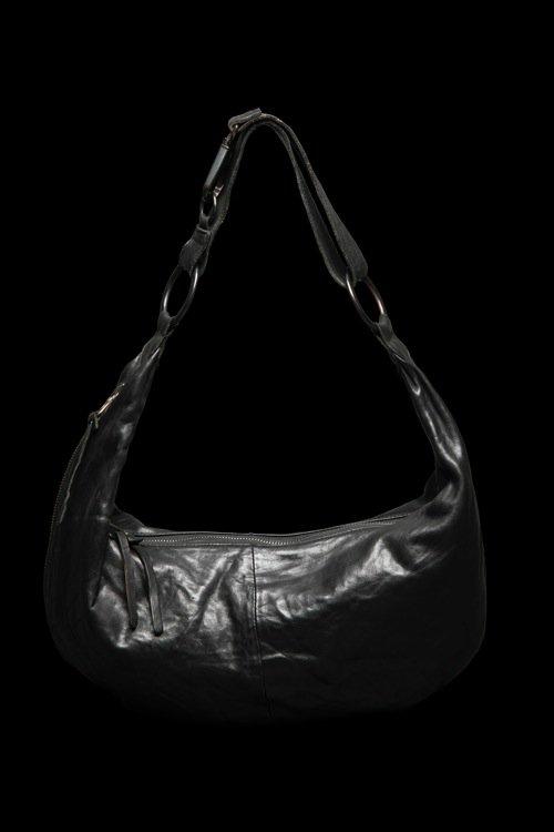DOUBLE SHOULDER GARMENT-DYED SHOULDER BAG