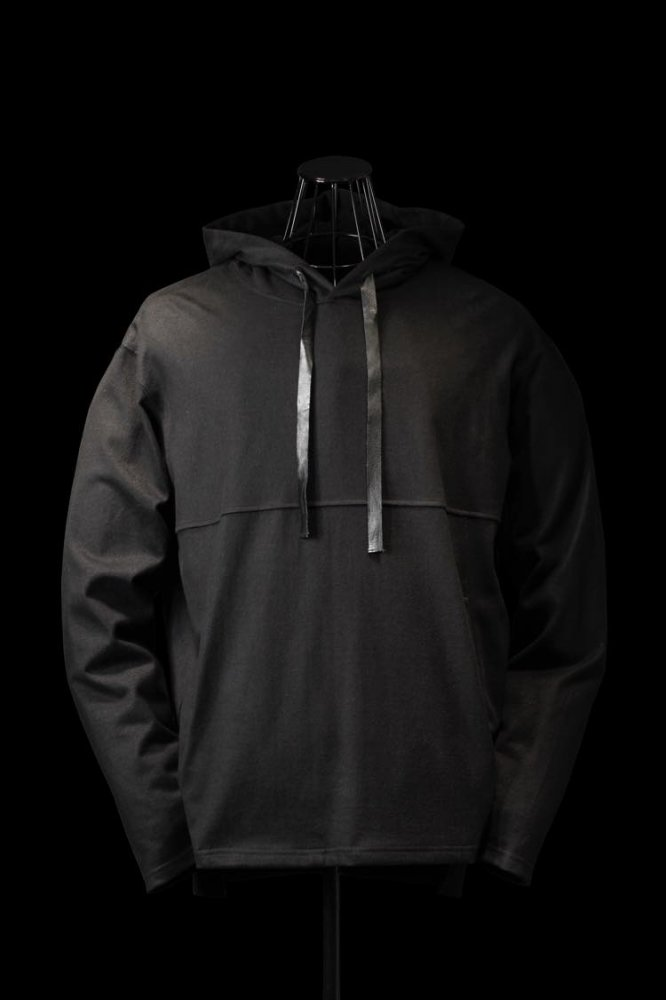 MODAL COTTON JERSEY PULLOVER HOODIE
