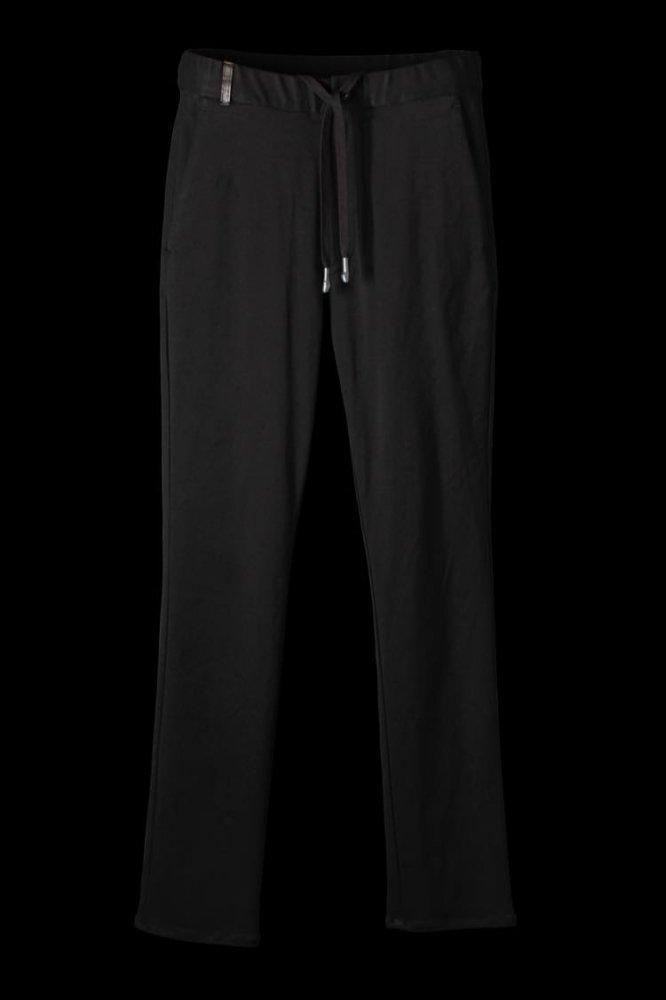 STRETCH RAYON-SILK EASY PANTS