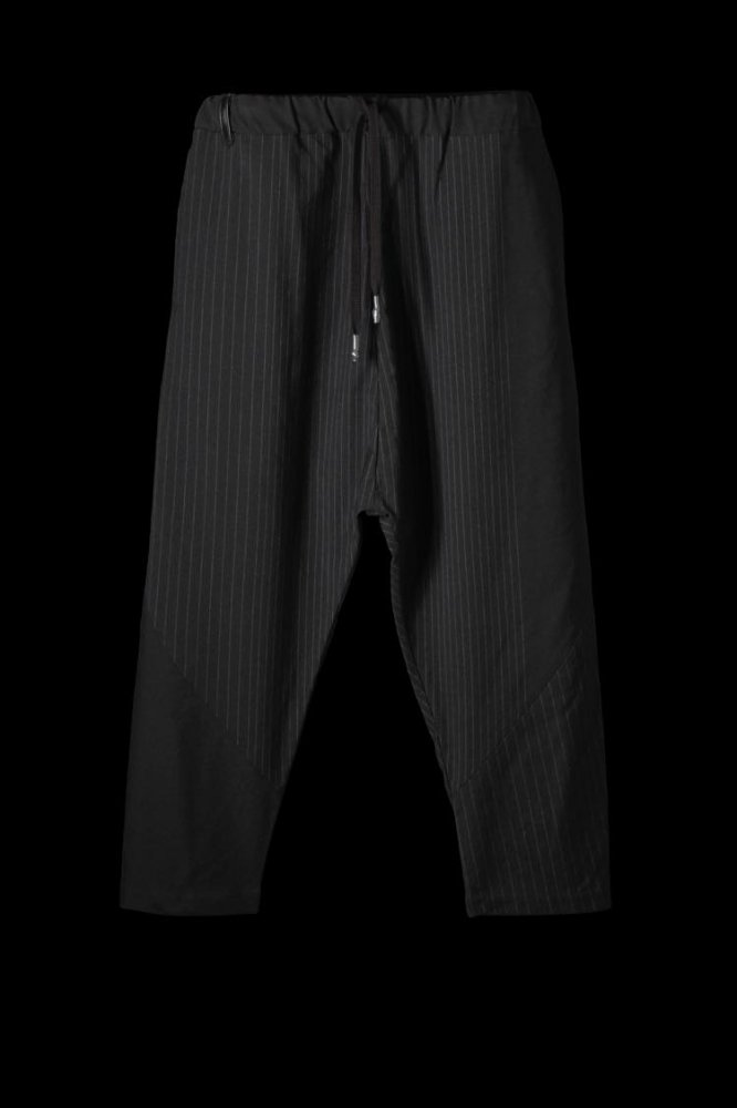 "WOOL-NYLON RANDOM STRIPE PANTS ""LOOSE SARROUEL"""