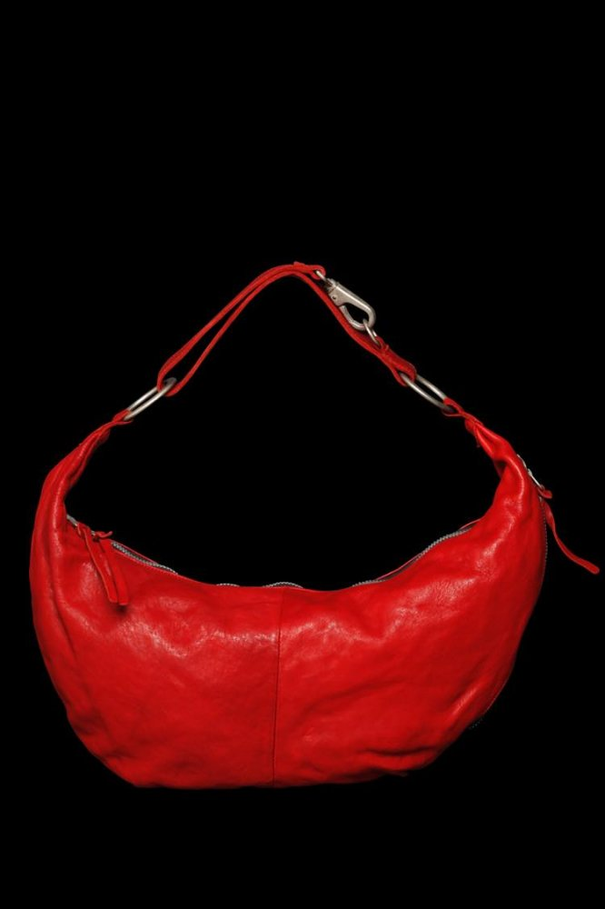 DOUBLE SHOULDER GARMENT-DYED SHOULDER BAG