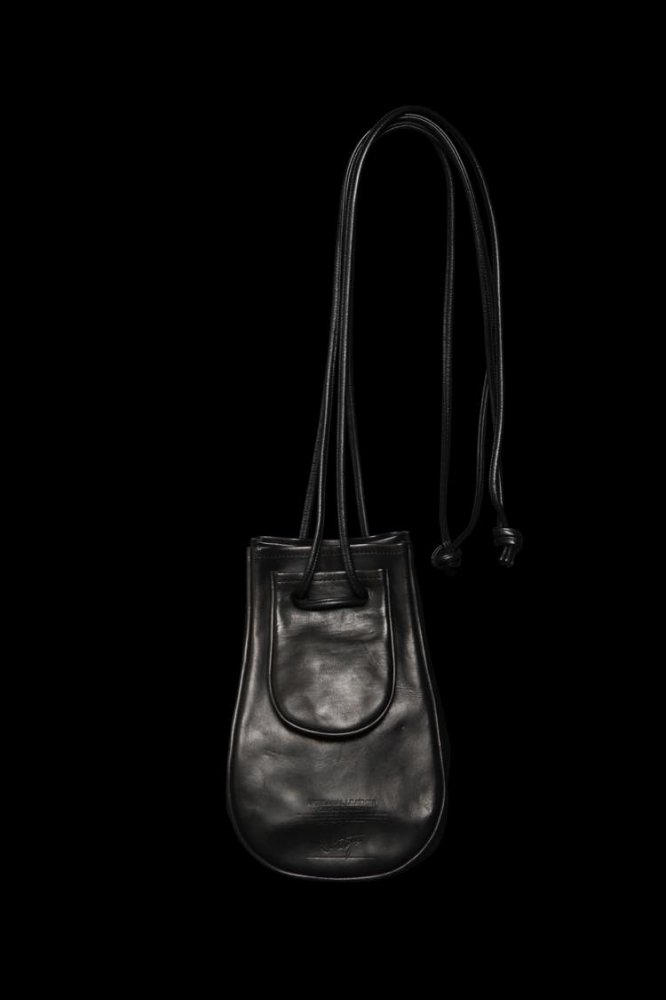 TANNED JAPAN HORSE WAX FINISH DRAWSTRING BAG/POUCH