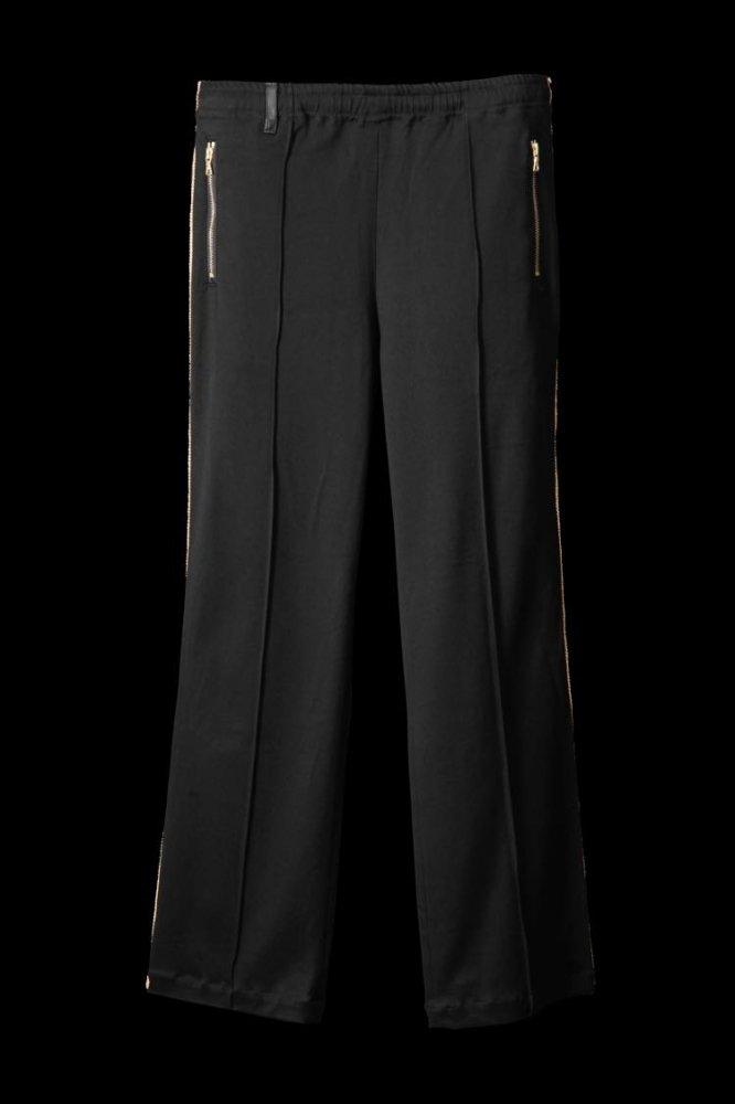 STRETCH RAYON-SILK TRACK PANTS