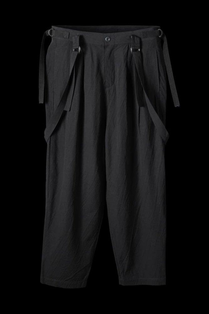 COTTON-RAYON TYPEWRITER CLOTH SUSPENDER PANTS