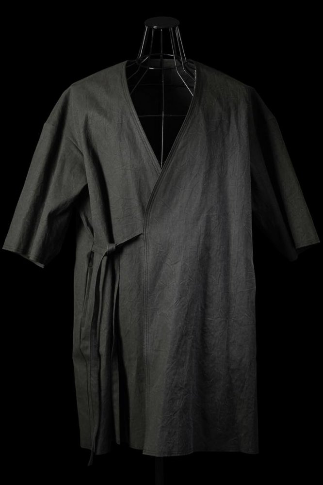"COTTON CANVAS ""JAPANESE TRADITION NATURAL HAND DYE"" HAORI"