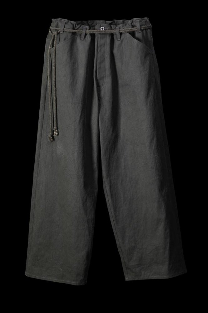 "COTTON CANVAS ""JAPANESE TRADITION NATURAL HAND DYE"" WIDE PANTS"