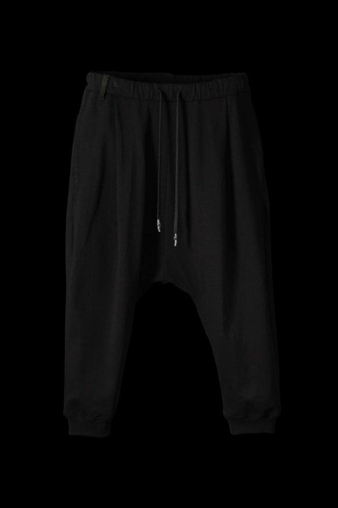 STRETCH-COTTON SARROUEL CROPPED PANTS