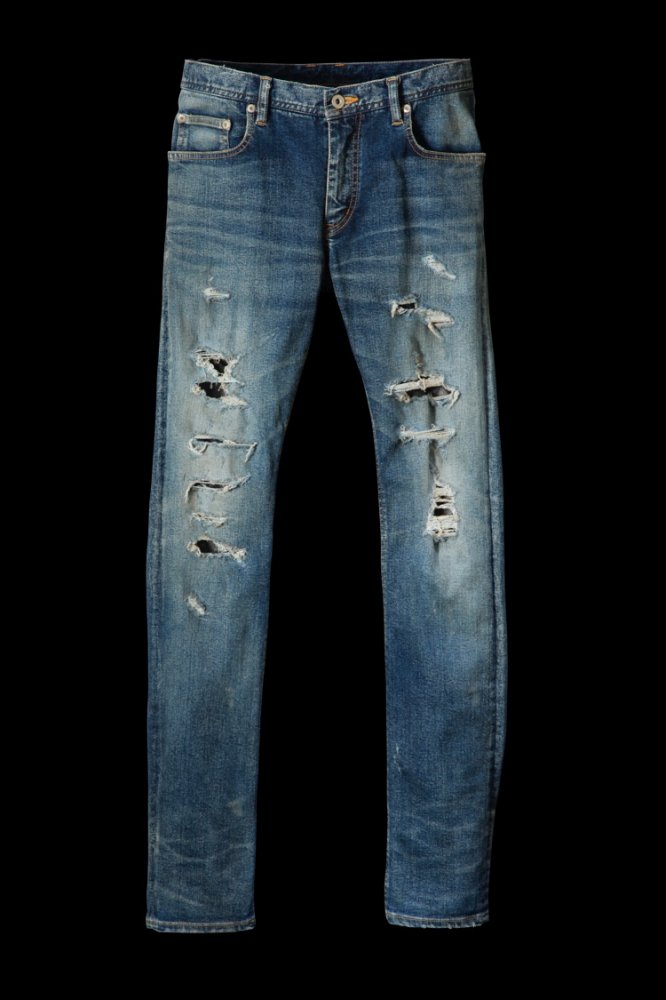 "EXTREME STRETCH DENIM ""SUPER-SKINNY 2"" CRASH/REPAIR"