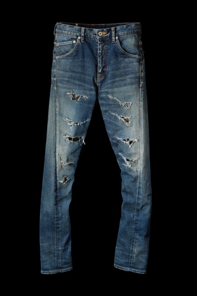 "EXTREME STRETCH DENIM ""SEMI-SARROUEL"" CRASH/REPAIR"