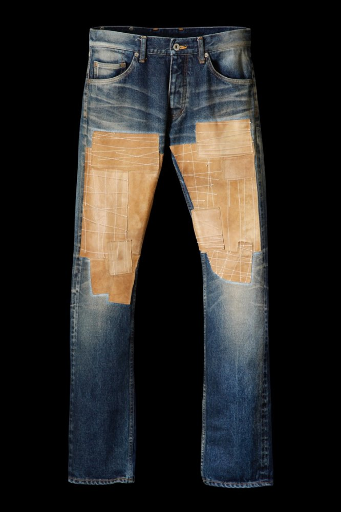 "SELVEDGE DENIM CRAFTED PATCHWORK LEATHER ""TIGHT-STRAIGHT"""