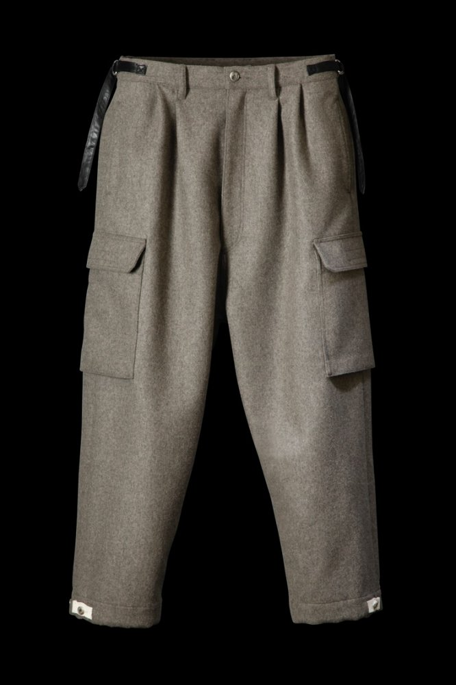 "PREMIUM WOOLYARN CASHMERE CARGO PANTS ""WIDE TAPERED"""
