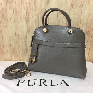 フルラ ハンドバッグ FURLA PIPER S ドームサッチェル 904143 ARGILLA