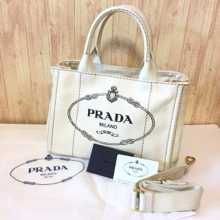プラダ トートバッグ PRADA ミニ カナパ ホワイト