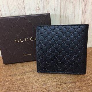 グッチ 財布 GUCCI マイクロ GG柄 レザー 二つ折り コインケース