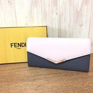 フェンディ 長財布 FENDI 2Jours バイカラー コンチネンタル